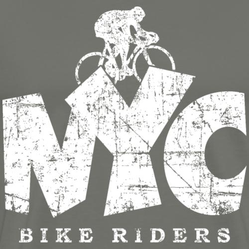 NYC BIKE RIDERS Distressed White