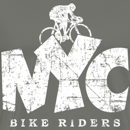 NYC BIKE RIDERS Distressed White