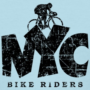 NYC BIKE RIDERS Distressed Black T-Shirts - Women's T-Shirt