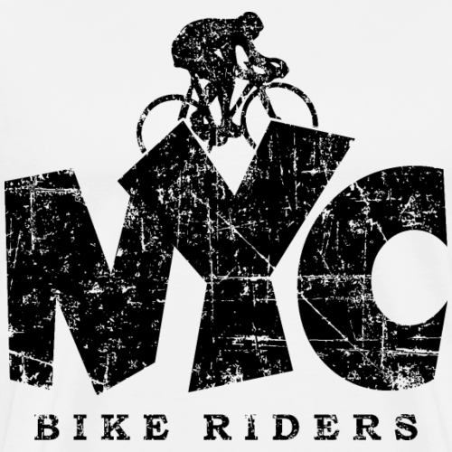NYC BIKE RIDERS Distressed Black