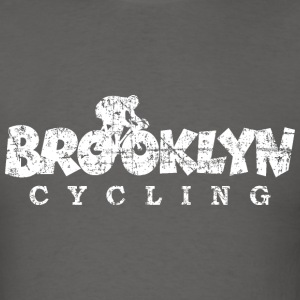 Brooklyn Cycling Distressed White T-Shirts - Men's T-Shirt