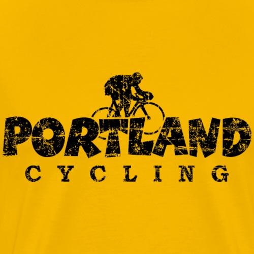 Portland Cycling Distressed Black