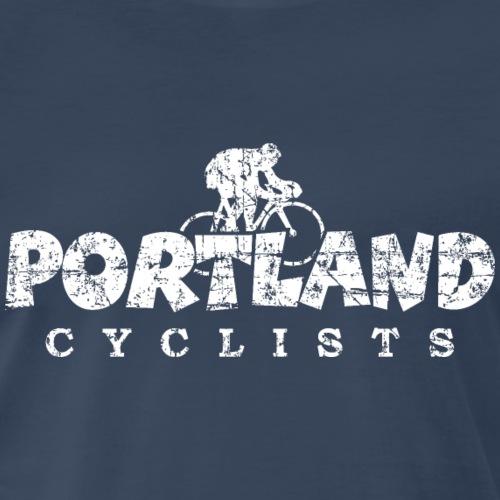 Portland Cyclists Distressed White