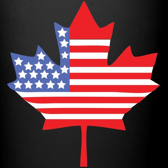 Canadian American Canada + USA Flag Mug