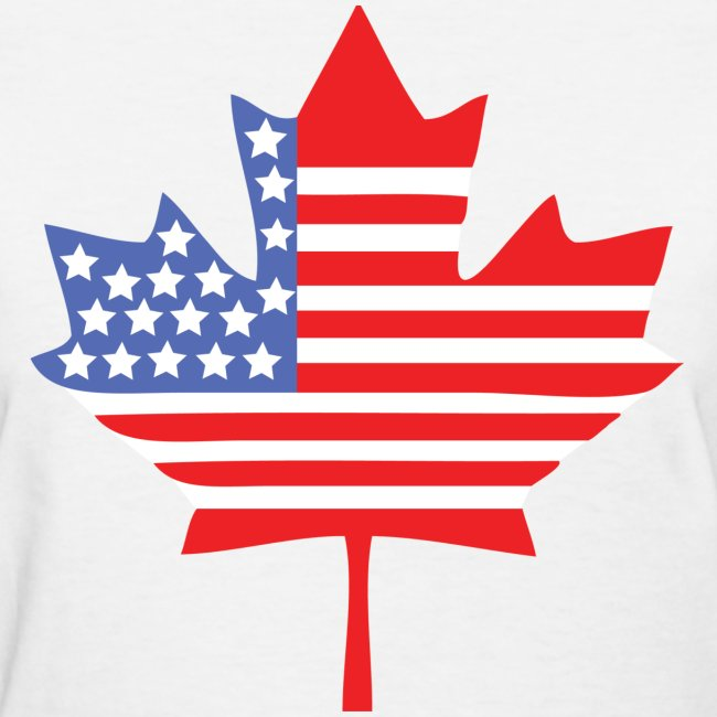 fandomrandom canadian american canada usa flag shirt womens t