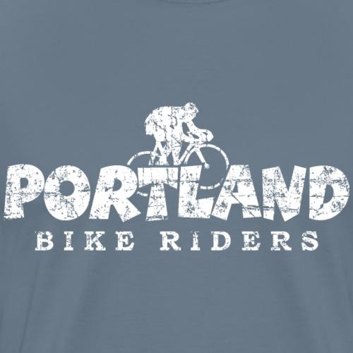 Portland Bike Riders Distressed White