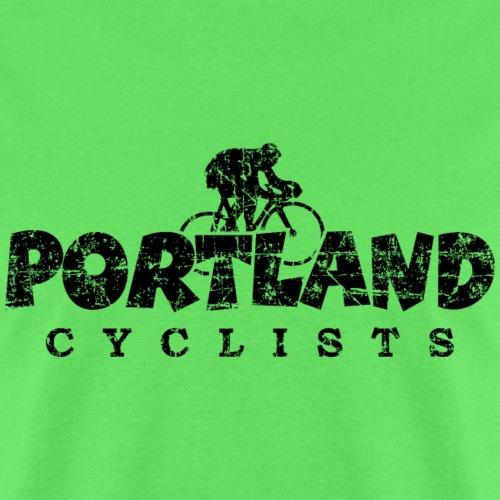 Portland Cyclists Distressed Black