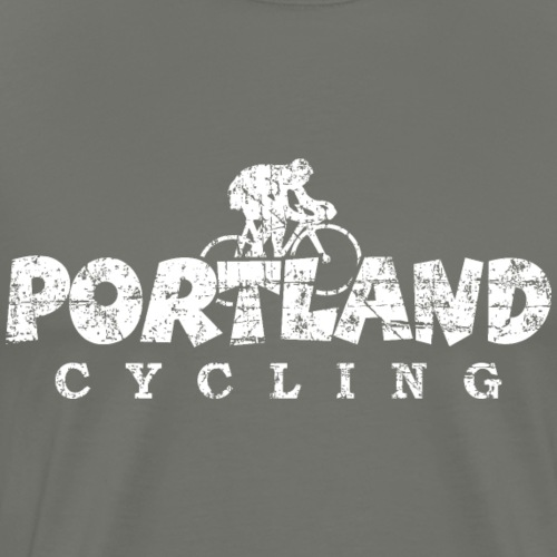 Portland Cycling Distressed White