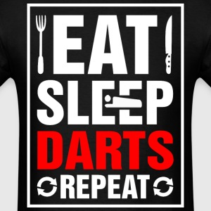 Eat Sleep Darts Repeat - Men's T-Shirt