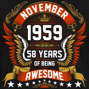 November 1959 58 Years Of Being Awesome T-Shirts - Men's Premium T-Shirt