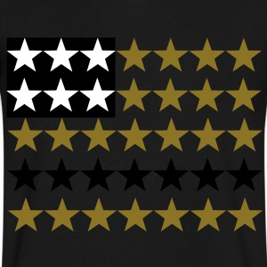 American Stars T-Shirts - Men's V-Neck T-Shirt by Canvas