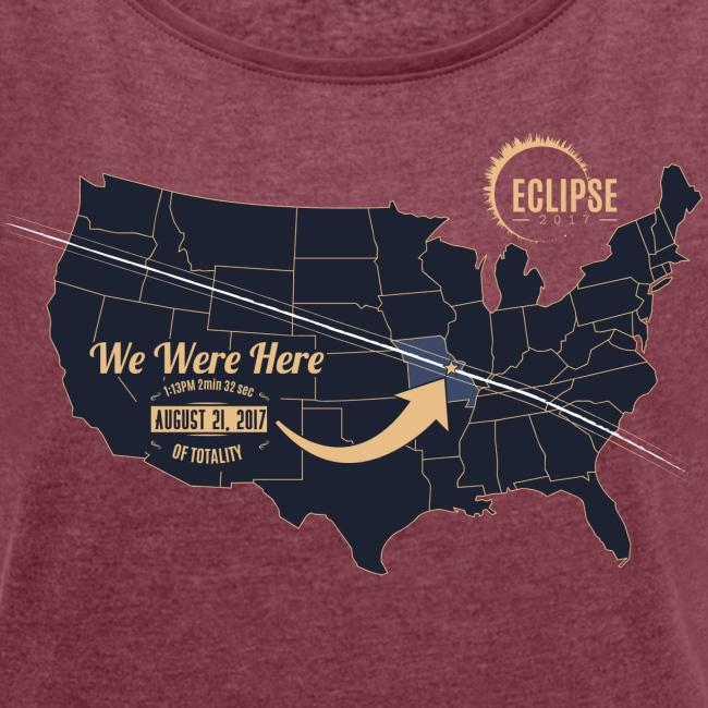 Eclipse 2017 - Womens Roll Cuff Tee