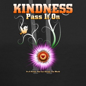 KINDNESS - Pass It On Starburst Heart Mens Contras - Contrast Hoodie