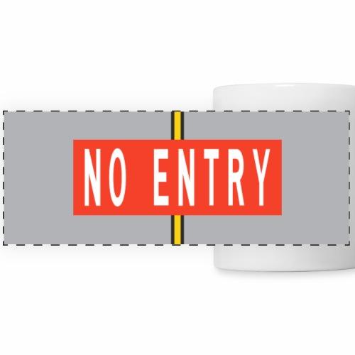 No Entry Marking panoramic mug