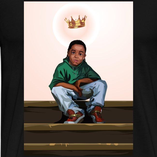 To Be A King (Men's Premium Black T-Shirt)