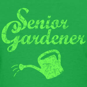 Senior Gardener Watering Can Garden Design