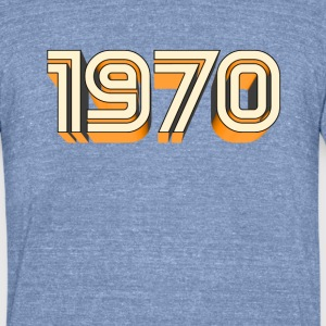 1970 T-Shirts - Unisex Tri-Blend T-Shirt by American Apparel