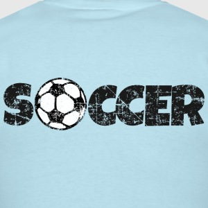 SOCCER Football Design Black&White T-Shirts - Men's T-Shirt