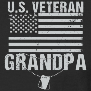 U.S Veteran Grandpa - Men's Long Sleeve T-Shirt