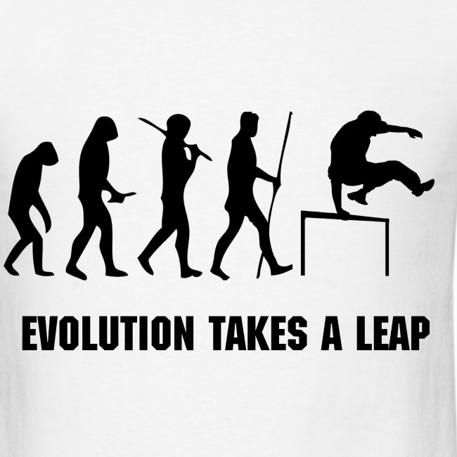 EVOLUTION OF PARKOUR MEN''S T-SHIRT