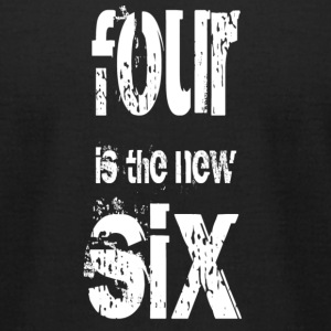Four is the new Six - black - Men's T-Shirt by American Apparel