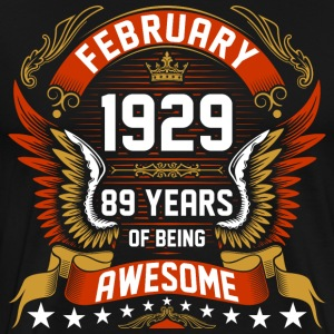 February 1929 89 Years Of Being Awesome T-Shirts - Men's Premium T-Shirt