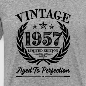 1957 Vintage - 60th Birthday Funny Shirt - Men's Premium T-Shirt