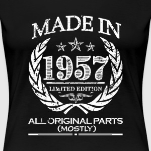Made in 1957 - 60th Birthday shirt - funny - Women's Premium T-Shirt