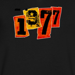 1977 T-Shirts - Men's V-Neck T-Shirt by Canvas