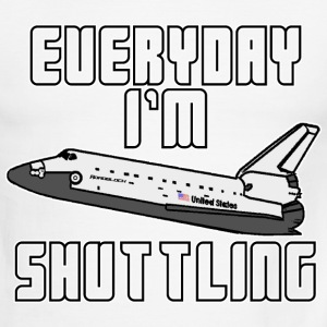 EVERYDAY I'm SHUTTLING - Men's Ringer T-Shirt
