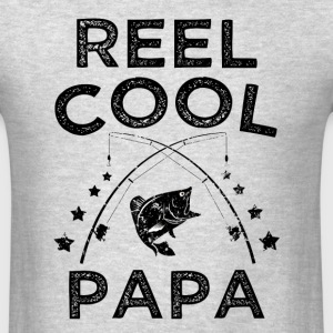 Reel Cool Papa funny fisherman mens shirt - Men's T-Shirt