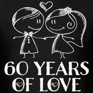 60th Wedding Anniversary Couples Gift T-Shirts - Men's T-Shirt