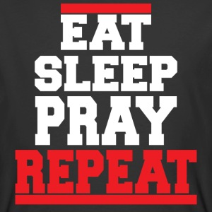 Christian t-shirt eat sleep pray Jesus t-shirt - Men's 50/50 T-Shirt
