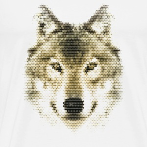 Wolf, Polygonal, Wolves, Wildlife, Dogs T-Shirts - Men's Premium T-Shirt