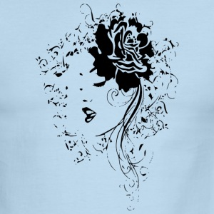 BEAUTIFUL FACE LINE ART (black ink) T-Shirts - Men's Ringer T-Shirt