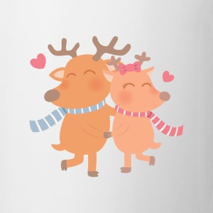 Reindeer Couple In Love Mugs & Drinkware - Coffee/Tea Mug