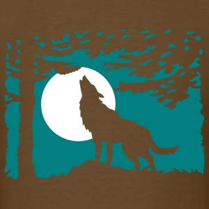 wolf_in_the_night T-Shirts - Men's T-Shirt