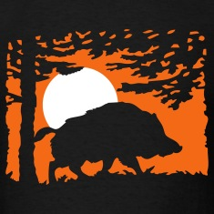 wildboar_in_the_night T-Shirts