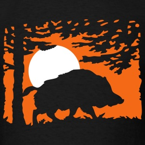 wildboar_in_the_night T-Shirts - Men's T-Shirt