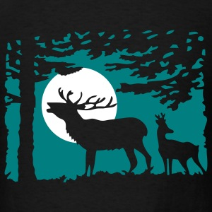 deer_in_the_night T-Shirts - Men's T-Shirt
