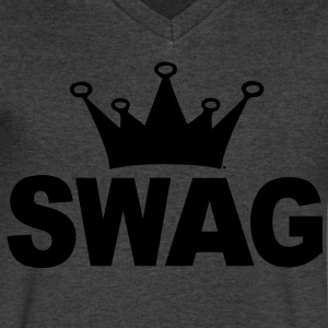 Swag of Crown T-Shirts - Men's V-Neck T-Shirt by Canvas