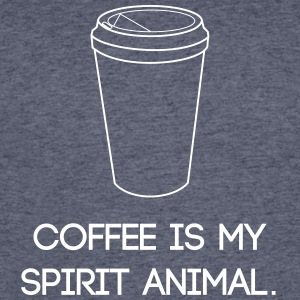 Coffee is my spirit animal. - Men's 50/50 T-Shirt