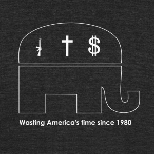 Wasting America's Time (Vintage Tri-Blend) - Unisex Tri-Blend T-Shirt by American Apparel