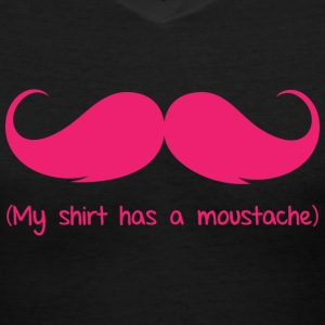 Moustache - Women's V-Neck T-Shirt