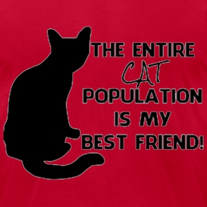 The cat population  T-Shirts - Men's T-Shirt by American Apparel