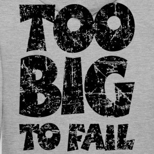 TOO BIG TO FAIL Distressed Black Men's Long Sleeve - Men's Premium Hoodie