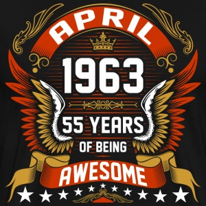 April 1963 55 Years Of Being Awesome T-Shirts - Men's Premium T-Shirt