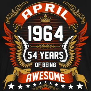 April 1964 54 Years Of Being Awesome T-Shirts - Men's Premium T-Shirt