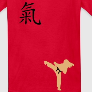 Meaning of Black Belt: Courage girls T shirt in red - Kids' T-Shirt