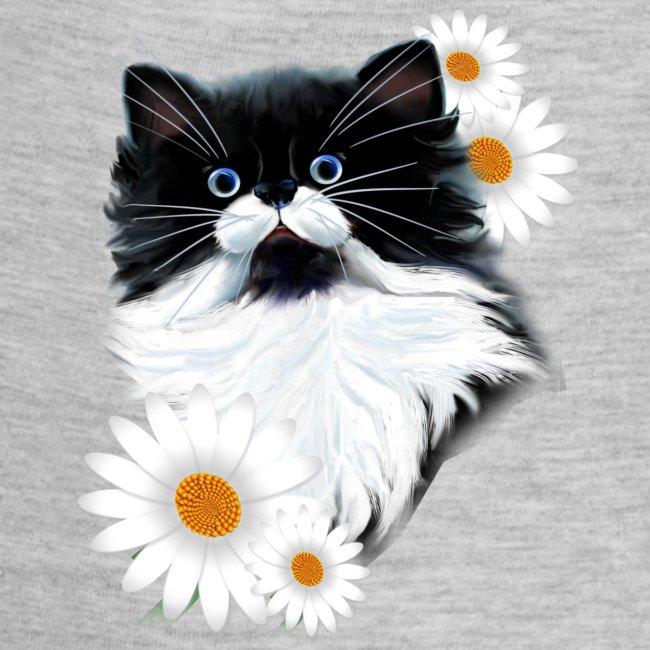 Tuxedo Kitten Face